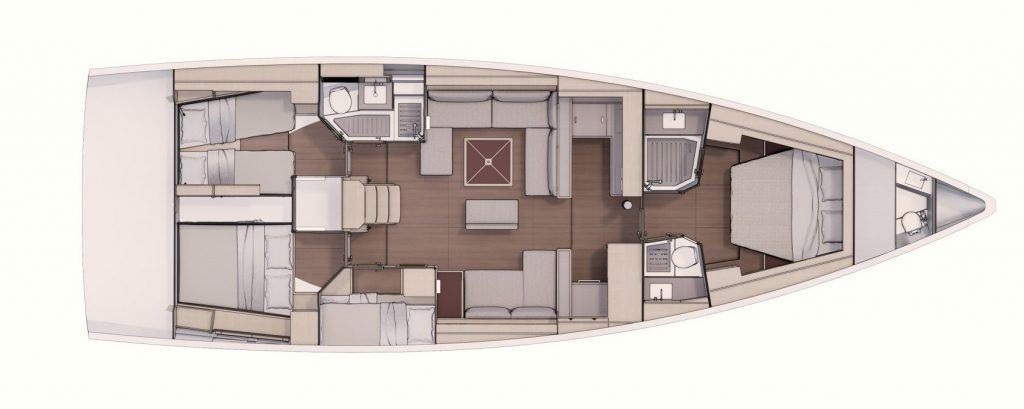location d'un voilier Dufour 530